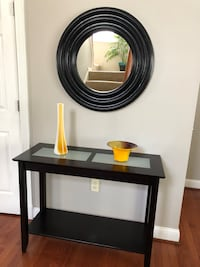Console table and mirror with decorations bundle Manassas, 20112