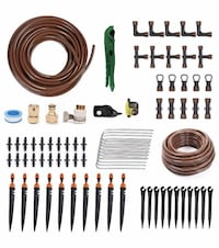 "Drip Irrigation Gardener's Drip Kit Include 1/2"" 1/4"" Tubing and More"