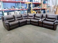 brown leather electrick sectional sofa set Jersey City, 07305