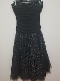 Black Halter Dress with Multicoloured Rhinestones  Port Coquitlam, V3C 1V4