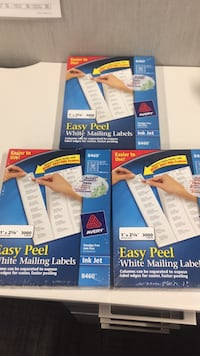 3 Sealed Boxes of Avery 840 White Mailing Labels 3,000 each Jersey City, 07306