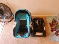 baby's blue and black car seat carrier Calgary, T3H 2V9