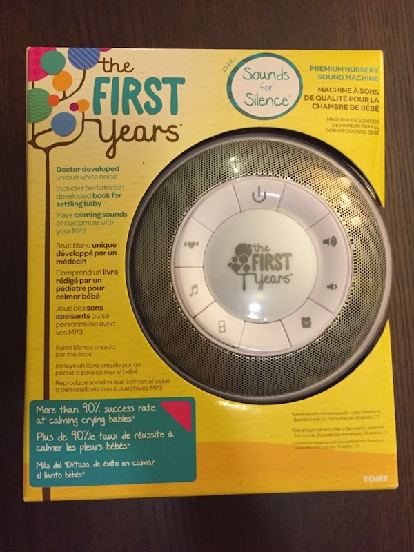 used the first years sound machine w book brand new in box for