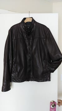 Hugo Boss Men Leather Jacket Winter Springs, 32708