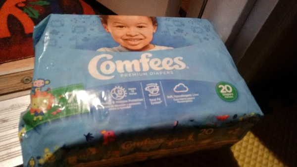 12 packs of size 7 comfees diapers 20 diapers in e eaf55a05-b910-42f9-bfd2-fa59d4077793