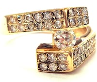 Real 14K (stamped) Yellow Gold Diamond Ring For Women (with Certificate of Authenticity) Montréal