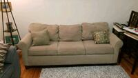 Tan Couch with Pull-Out  Milford, 06461