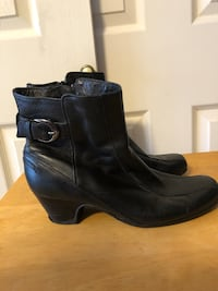 Clark's Women's Size 9W Black Leather Boots Baltimore, 21236