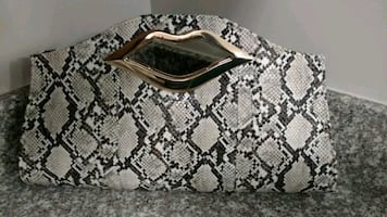 Brand new handbag, purse, snakeskin animal print,