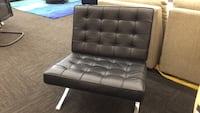 Black Leather Accent Chair Norfolk, 23502