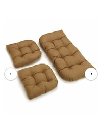 3 piece indoor/outdoor bench and dining chair cushion set