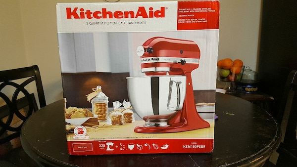 Artisian KITCHEN Aid stand Mixer Red 5 QUART