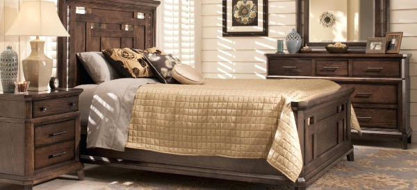 brown and white bed sheet