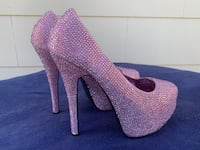 pair of purple glittered platform stilettos San Rafael, 94901