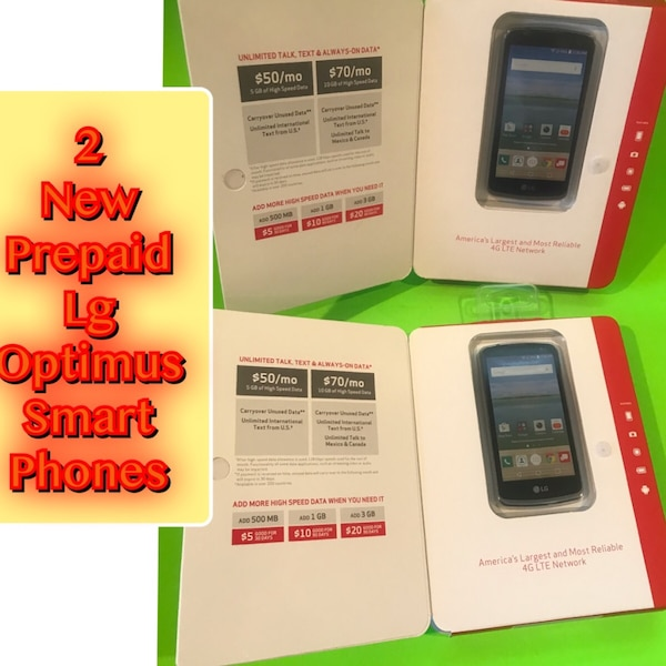 Lg Optimus zone 3 Brand New sealed Verizon Prepaid 2 Phones for $90 PICK UP  Tinton Falls