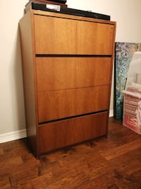 Wooden filing cabinet with lock Brampton, L6P 1A5
