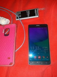red Samsung Galaxy Android smartphone 138 mi
