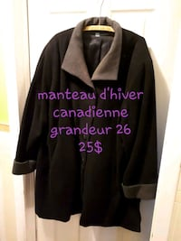 Manteau hiver style canadienne grande taille