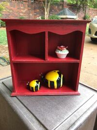 Red decor box for the house