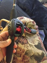 Abu Garcia black max rod and real brand new never used