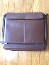 New Levenger Fine Leather Tools Brown zippier case