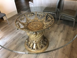 Glass table 60 inch diameter