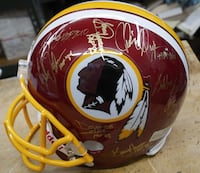 WASHINGTON REDSKINS SIGNED TEAM REPLICA NFL HELMET W COA COLLECTIBLE Baltimore, 21205
