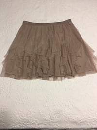 Grey frilly tutu-esque going out skirt - Medium
