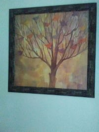 brown wooden framed painting of flowers Stone Mountain