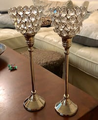 two stainless steel base table lamps Hallandale Beach, 33009