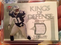 Roy Williams  collectible piece of game jersey NFL Dallas Cowboys football card (Defense Sooners) Carrollton, 75007
