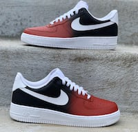 Custom Black & Red Fade Air Force 1 St. Catharines