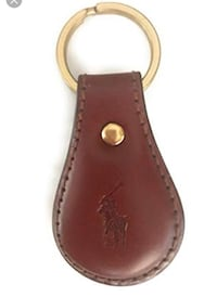 Ralph Lauren Brown Leather Key Ring Towson, 21286