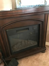 black and brown electric fireplace Port Coquitlam, V3B 2J2