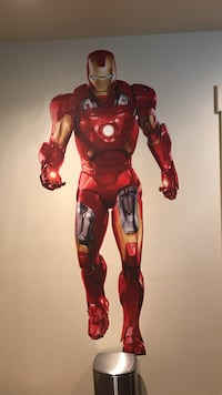 Iron man decal on wall