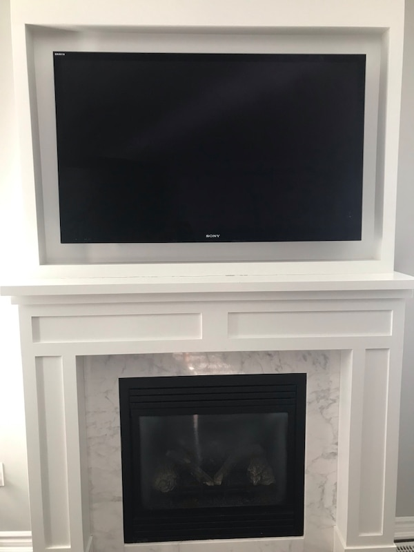 """50"""" Sony TV with Pioneer Harmony set that helps control the TV remotely"""