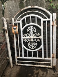 metal gate . strong and rigid just need paint , 11208