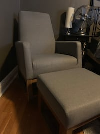 Grey rocking chair with ottoman Toronto, M8X 1A3