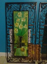 white and yellow petaled flowers painting