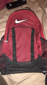 Red nike backpack