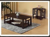 Used 3 pcs wood coffee table set good condition Mississauga, L5N 3A4