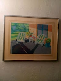 brown wooden framed painting of house Palmetto Bay, 33157