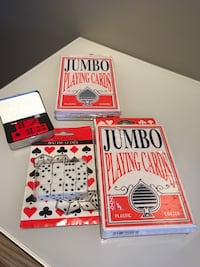 NEW-Large playing cards and dice North Vancouver, V7H 1V7