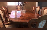 8 seating dining table w/chairs and 2 display unit sets price negotiable Vaughan, L4L