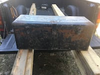 Antique automobile rear bumper toolbox  Kirkwood, 13904