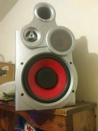 gray and red stereo speaker Independence, 64055