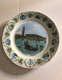 Venezia Panorama vintage collector plate San Diego, 92101