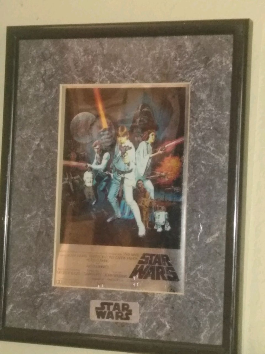 STAR WARS CHROME ART PICTURE