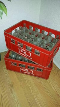 red plastic bottle crate and bottle Halifax, B3M 1C4