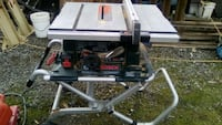 Foldable table saw